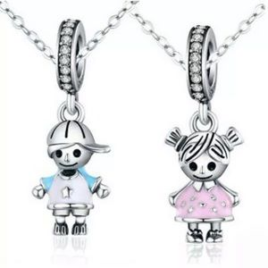 Boy & Girl Sterling Silver Dangle Charm
